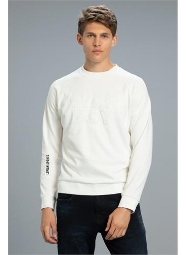 Lufian Uno Sweatshirt   Beyaz